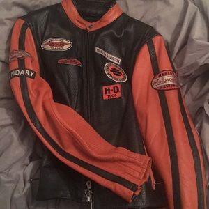 RARE HARLEY DAVIDSON LEATHER MOTORCYCLE JACKET